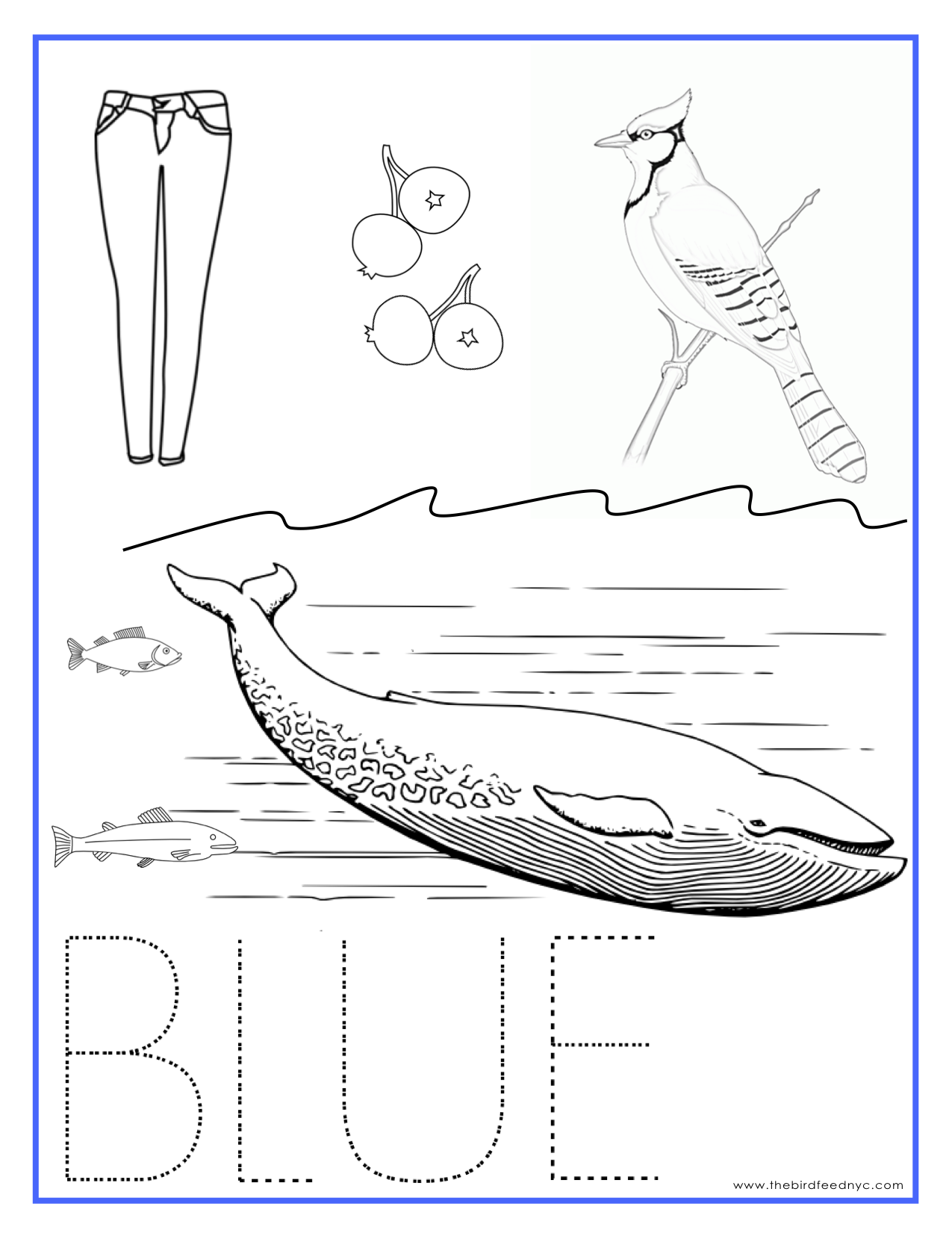 Blue coloring #17, Download drawings