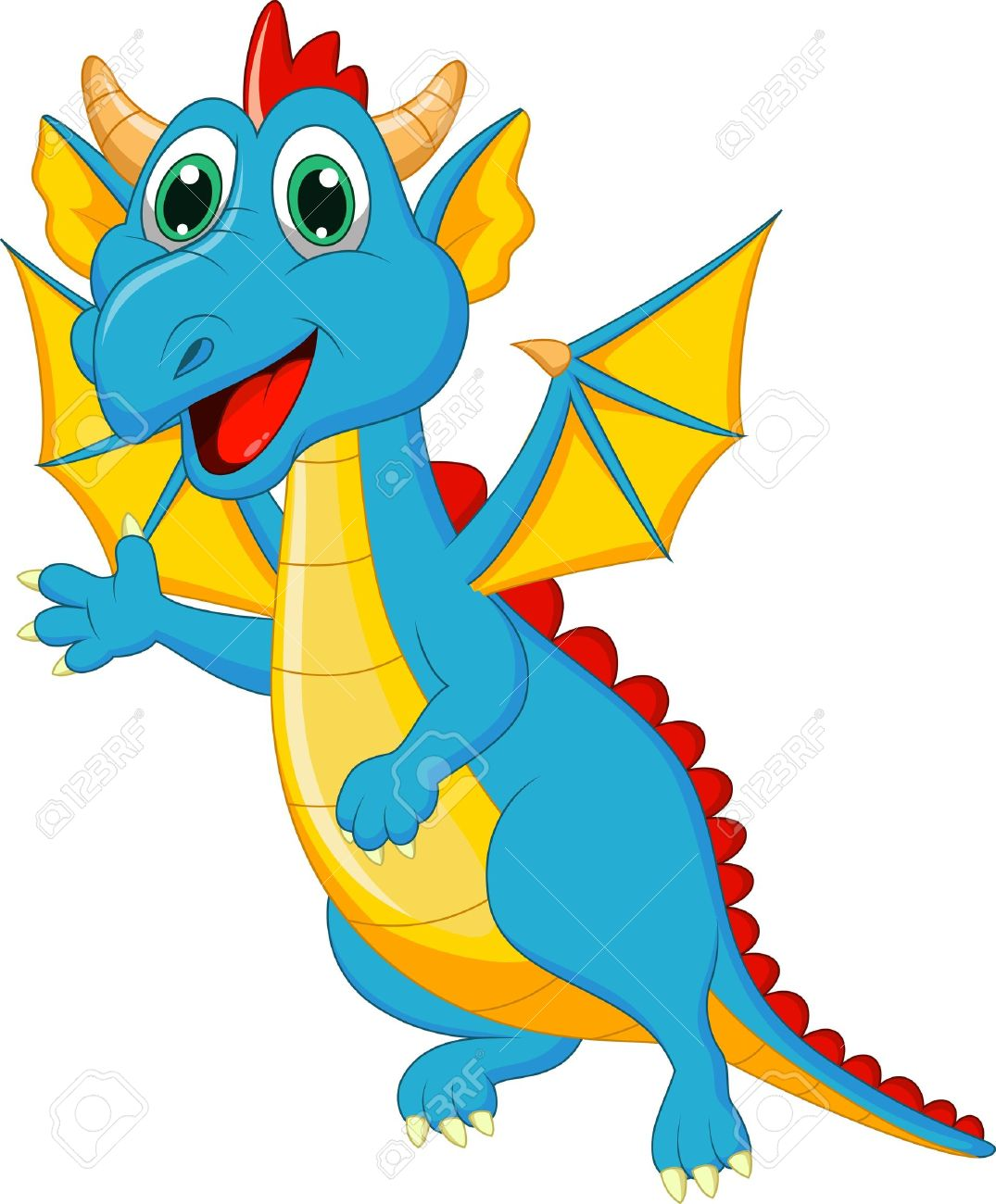 Blue Dragon clipart #3, Download drawings