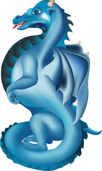 Blue Dragon clipart #6, Download drawings