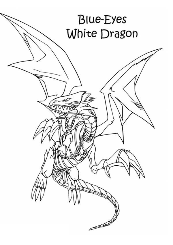 White Dragon coloring #20, Download drawings