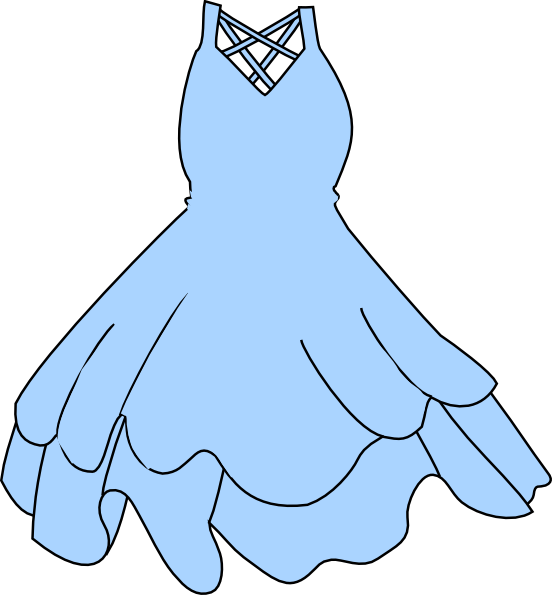 Blue Dress svg #13, Download drawings