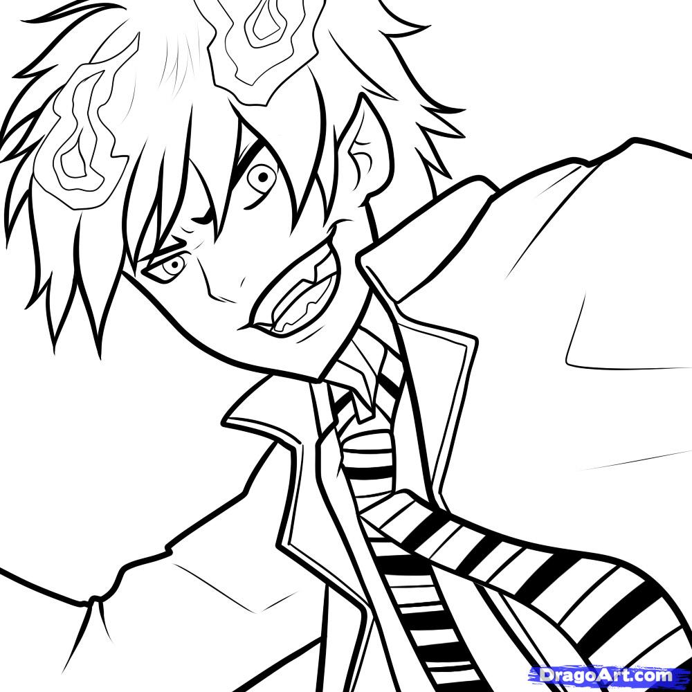 Blue Exorcist coloring #7, Download drawings