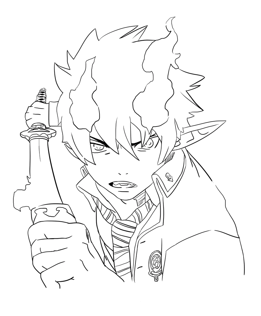 Blue Exorcist coloring #2, Download drawings