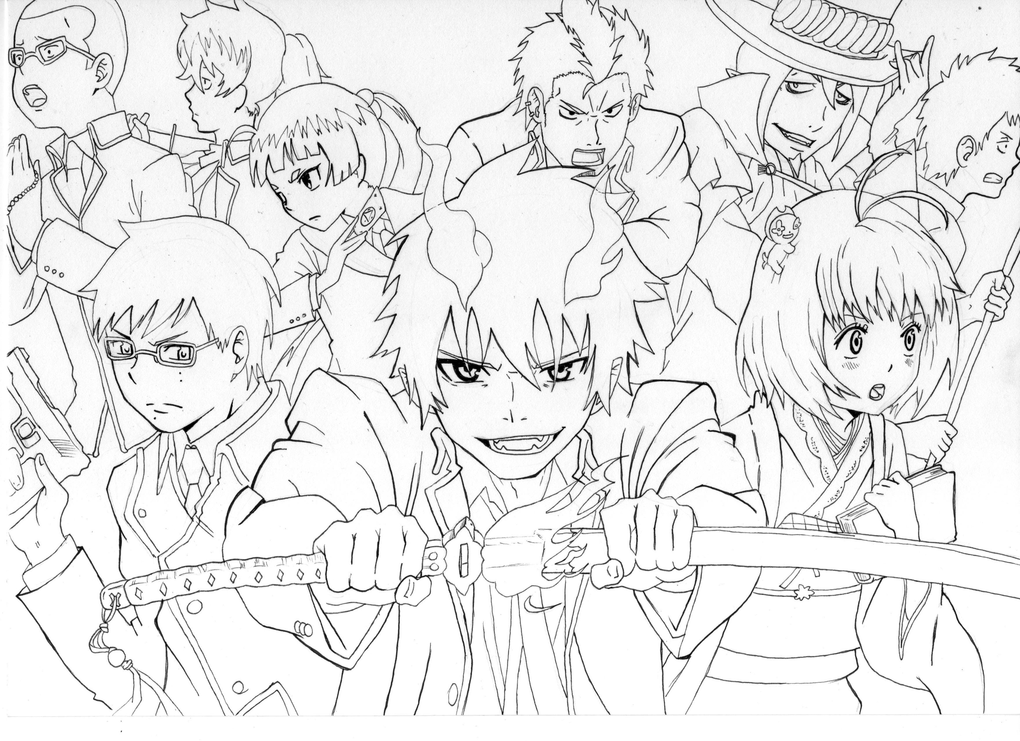 Blue Exorcist coloring #1, Download drawings