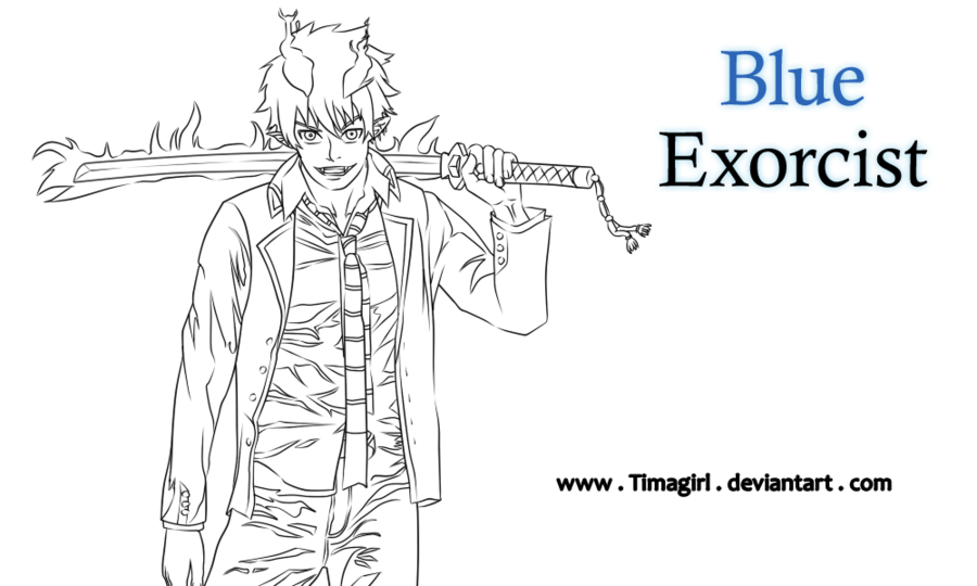 Blue Exorcist coloring #9, Download drawings