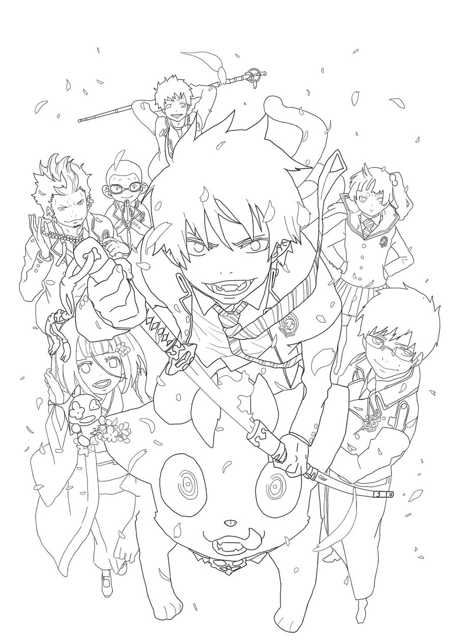 Blue Exorcist coloring #5, Download drawings