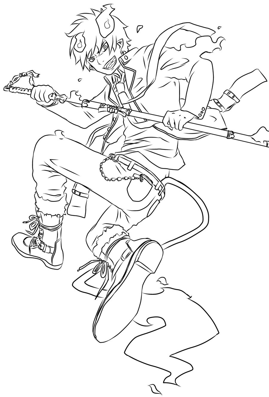 Blue Exorcist svg #3, Download drawings