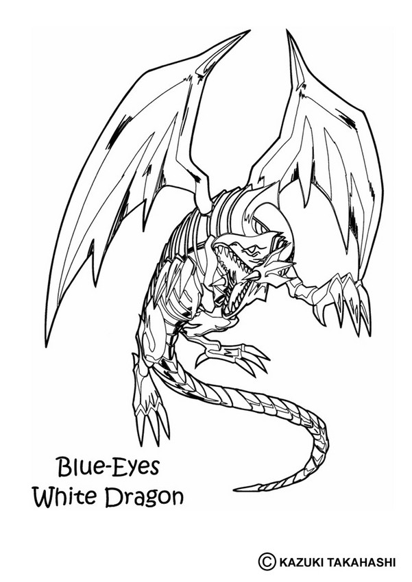 White Dragon coloring #17, Download drawings