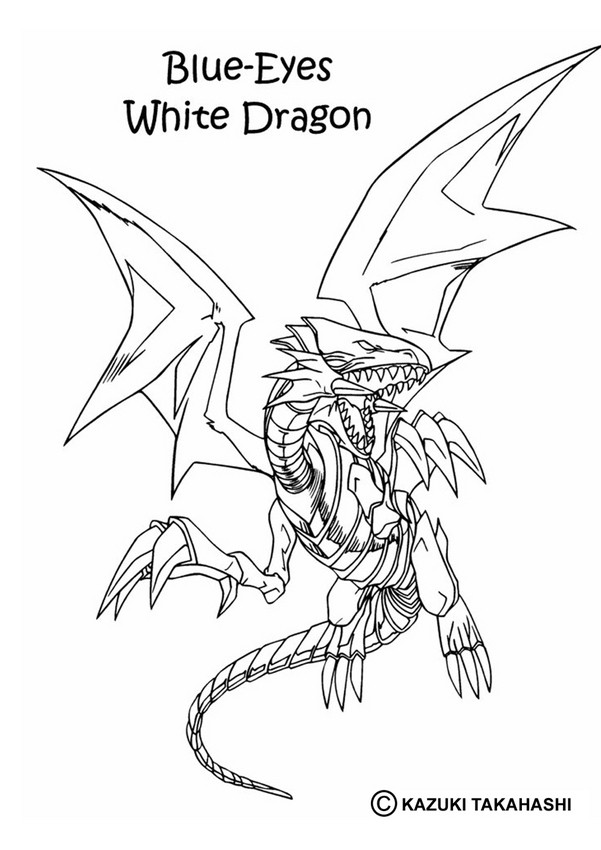 White Dragon coloring #18, Download drawings