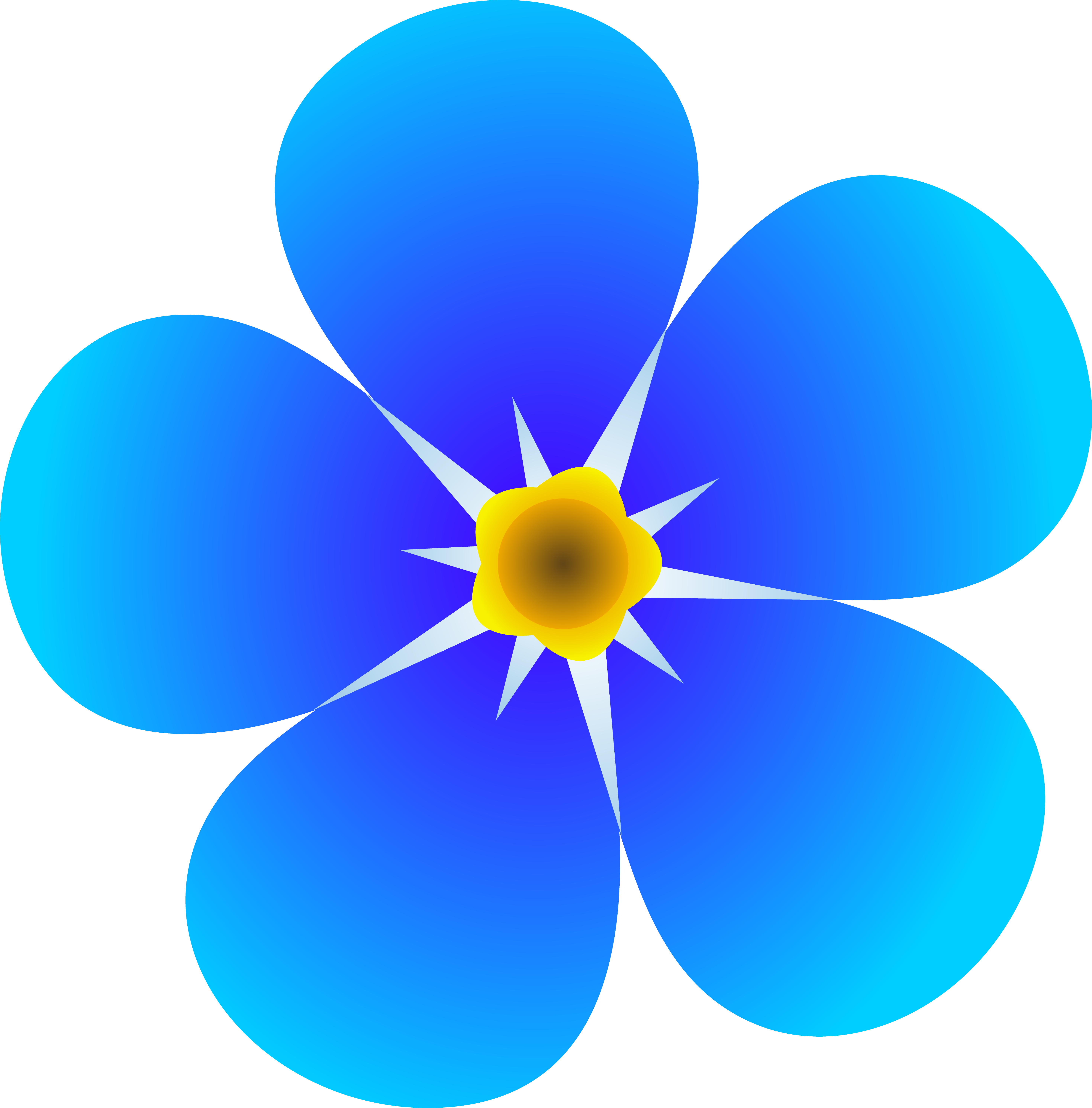 Blue Flower clipart #5, Download drawings