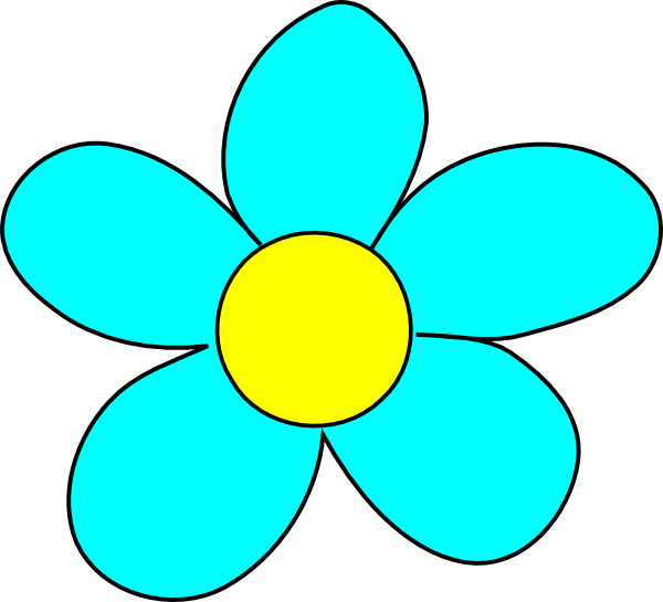 Blue Flower clipart #9, Download drawings