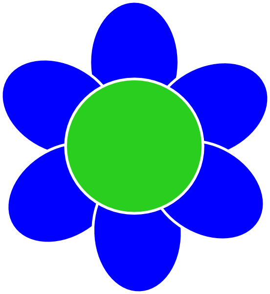 Blue Flower clipart #8, Download drawings