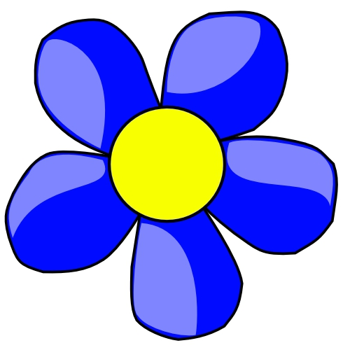 Blue Flower clipart #6, Download drawings
