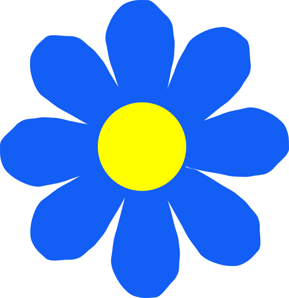 Blue Flower clipart #4, Download drawings