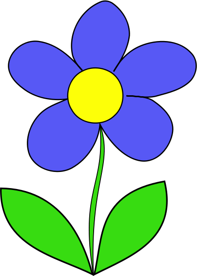 Blue Flower clipart #1, Download drawings