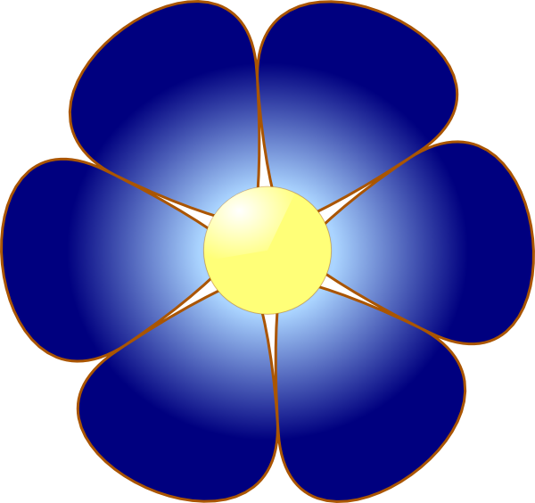 Blue Flower clipart #3, Download drawings