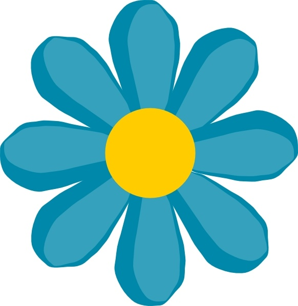 Blue Flower clipart #7, Download drawings