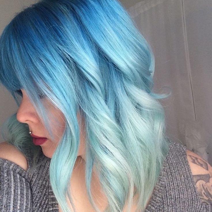Blue Hair coloring #19, Download drawings