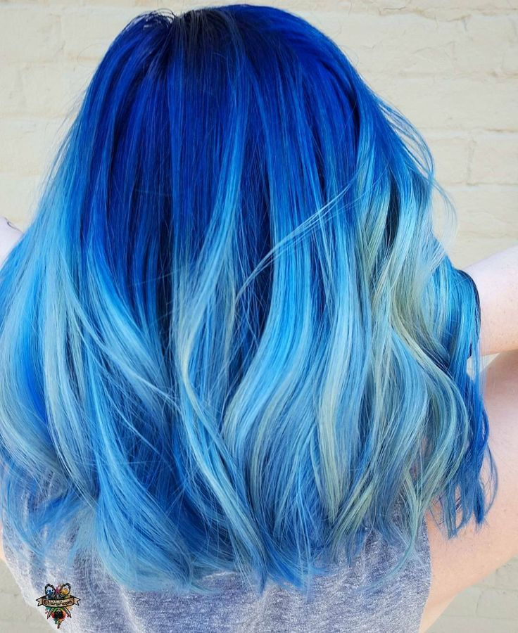 Blue Hair coloring #10, Download drawings