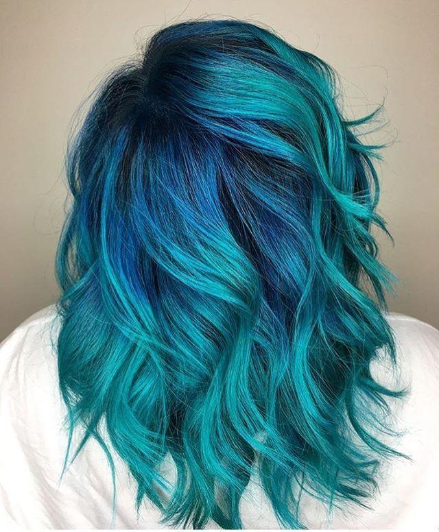 Blue Hair coloring #8, Download drawings