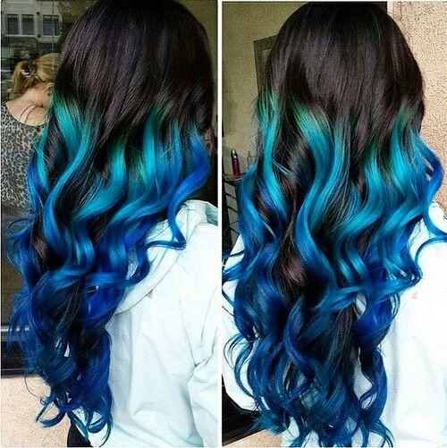 Blue Hair coloring #7, Download drawings