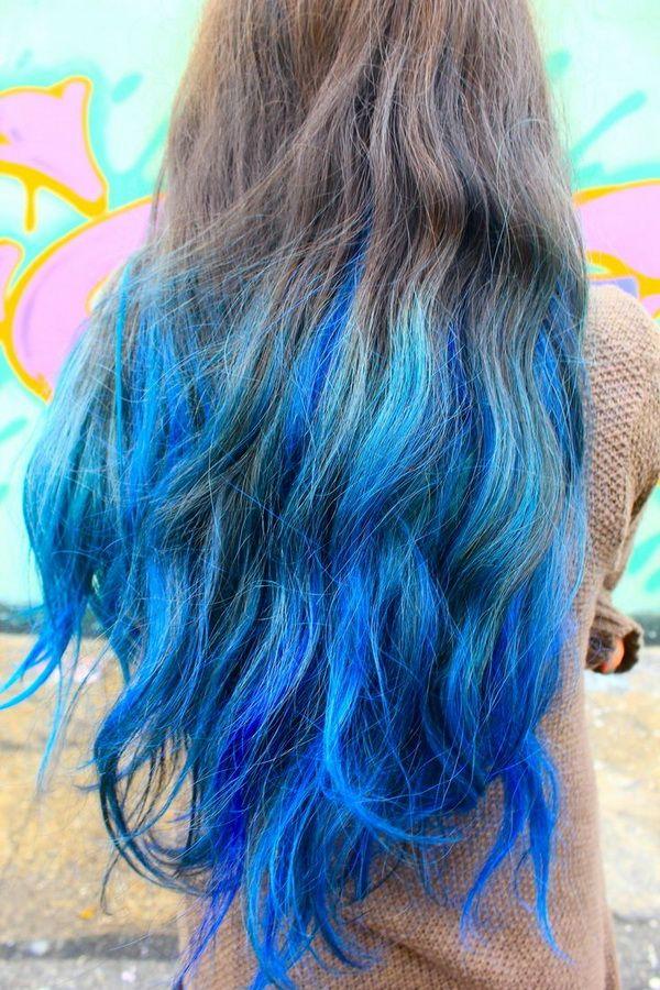 Blue Hair coloring #4, Download drawings