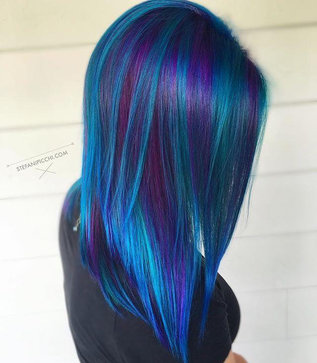 Blue Hair coloring #3, Download drawings