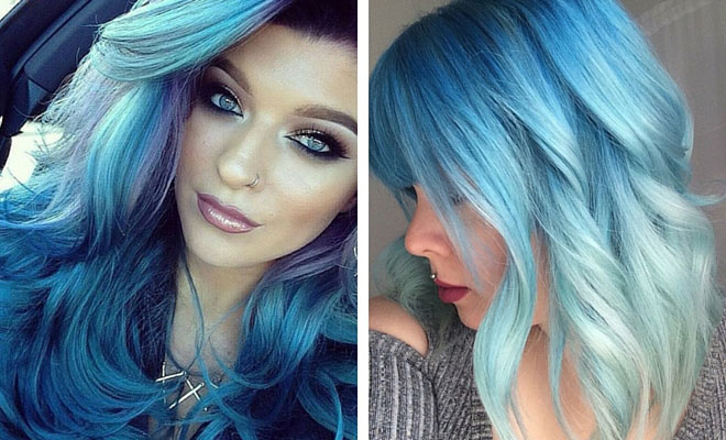 Blue Hair coloring #20, Download drawings