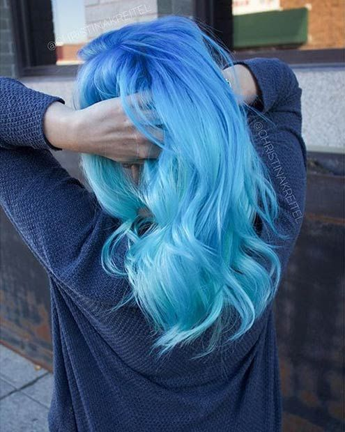 Blue Hair coloring #17, Download drawings