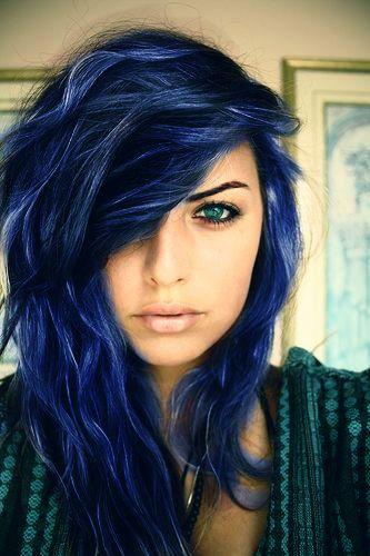 Blue Hair coloring #16, Download drawings