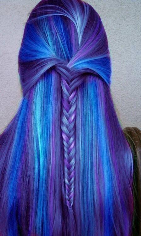Blue Hair coloring #15, Download drawings