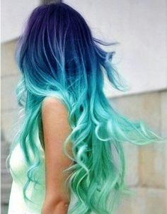 Blue Hair coloring #14, Download drawings