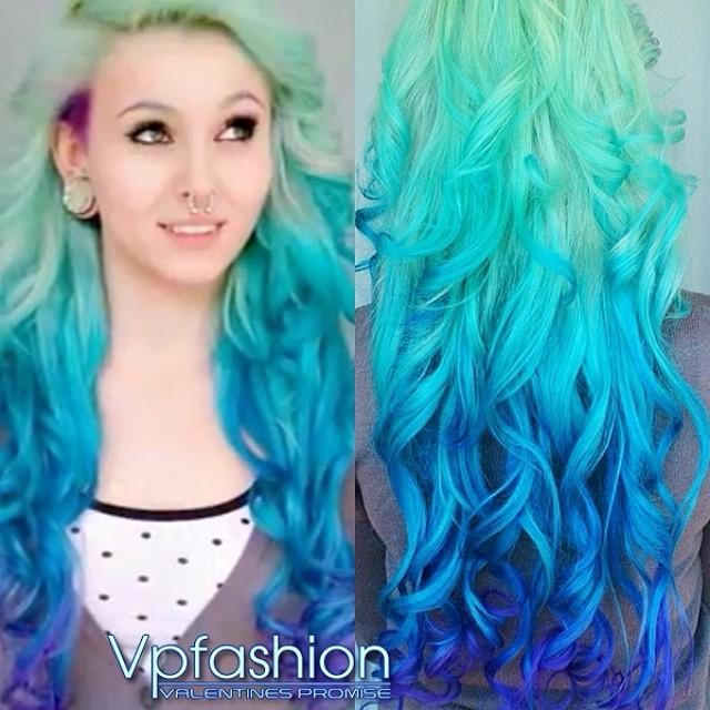 Blue Hair coloring #12, Download drawings