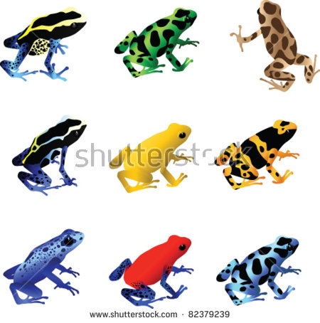 Blue Poison Dart Frog clipart #3, Download drawings