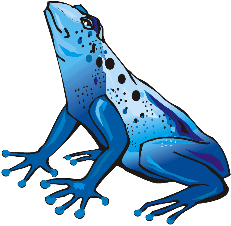 Blue Poison Dart Frog clipart #1, Download drawings