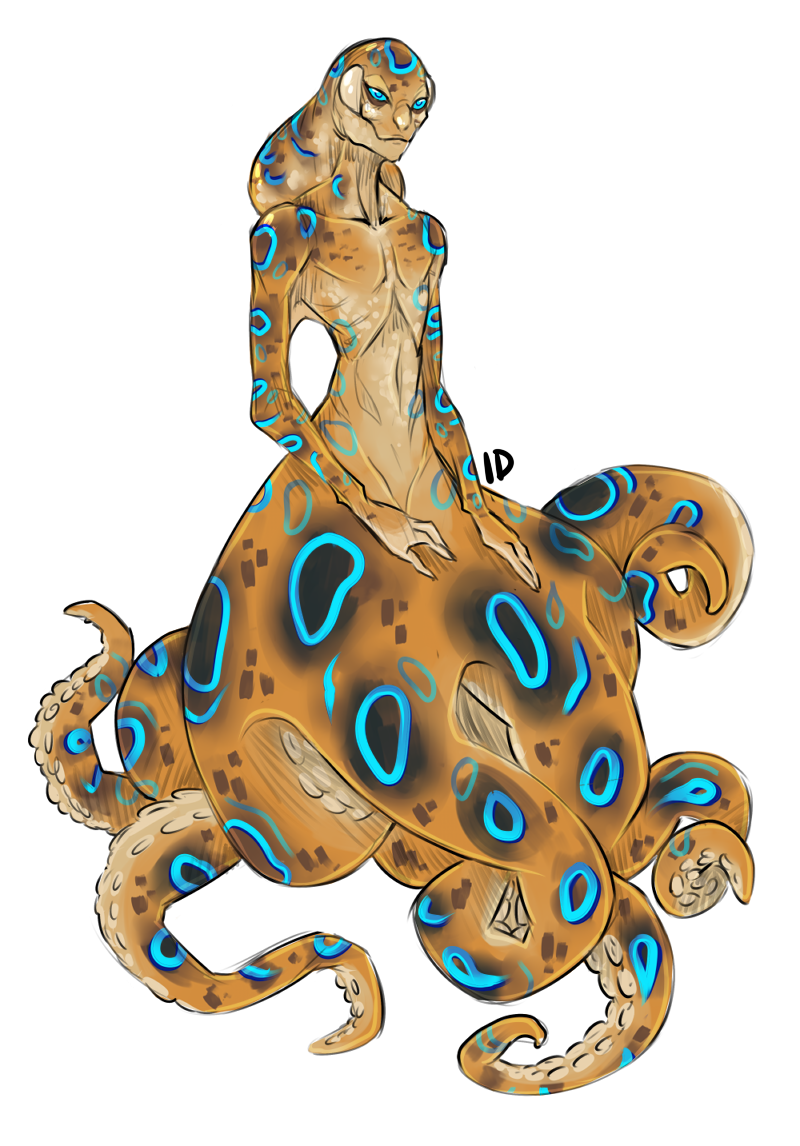 Blue Ringed Octopus clipart #5, Download drawings