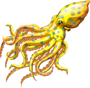 Blue Ringed Octopus clipart #1, Download drawings