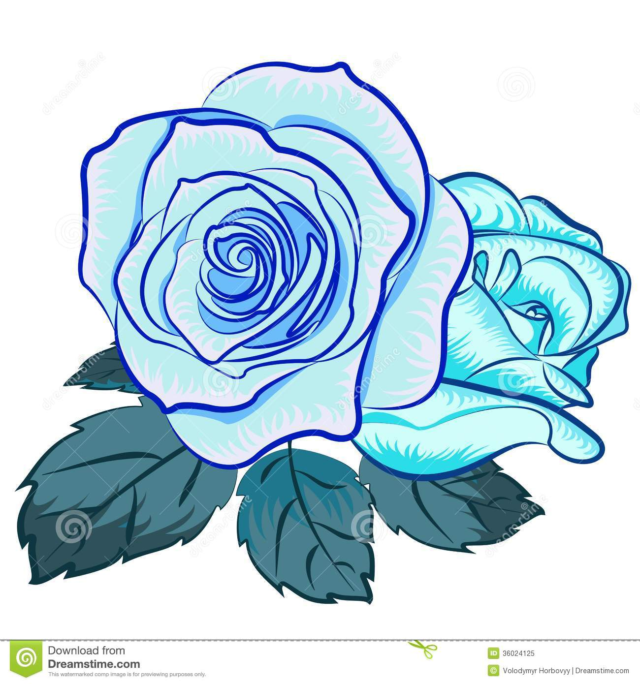 Blue Rose clipart #1, Download drawings