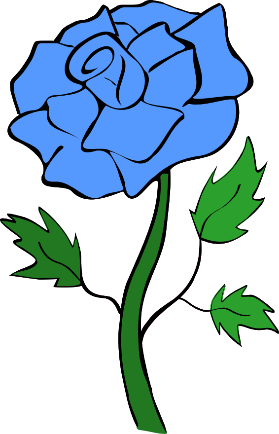 Blue Rose clipart #6, Download drawings