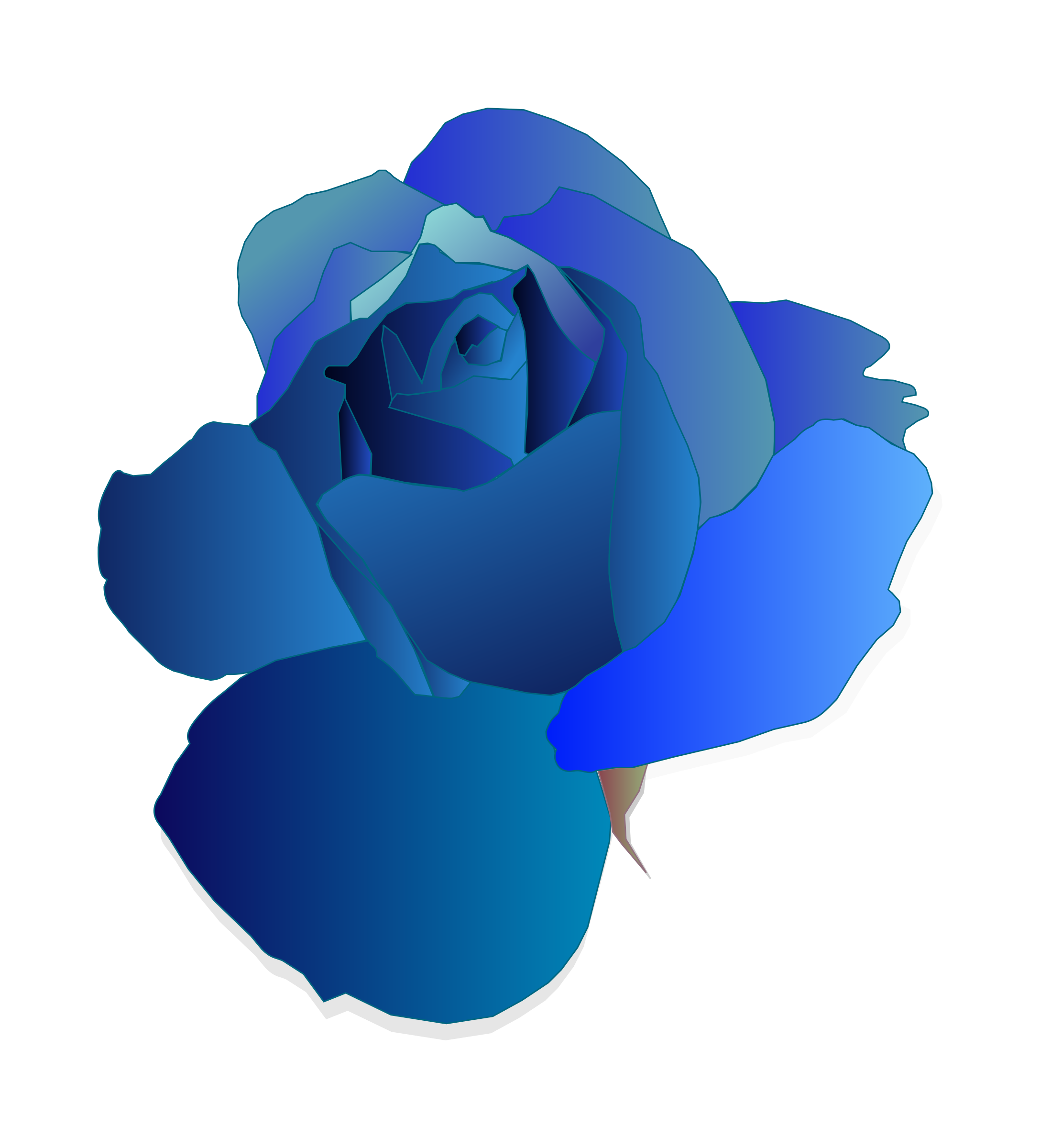 Blue Rose svg #15, Download drawings