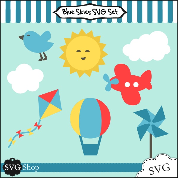 Blue Skies svg #6, Download drawings