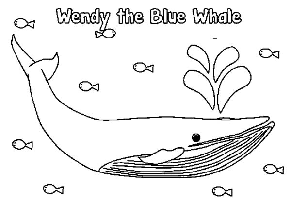 Blue Whale coloring #11, Download drawings