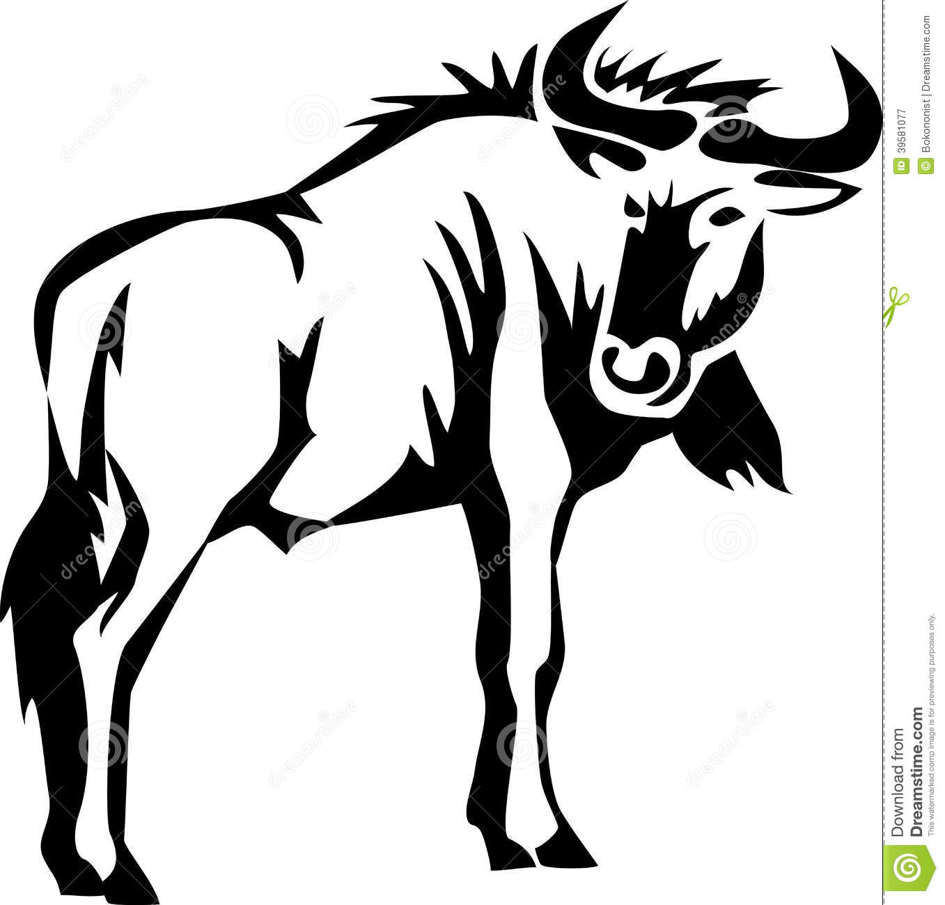 Blue Wildebeest clipart #18, Download drawings