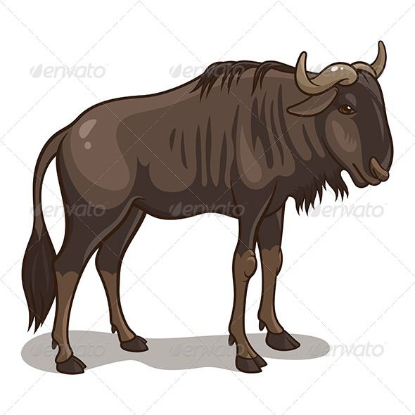 Wildebeest clipart #3, Download drawings