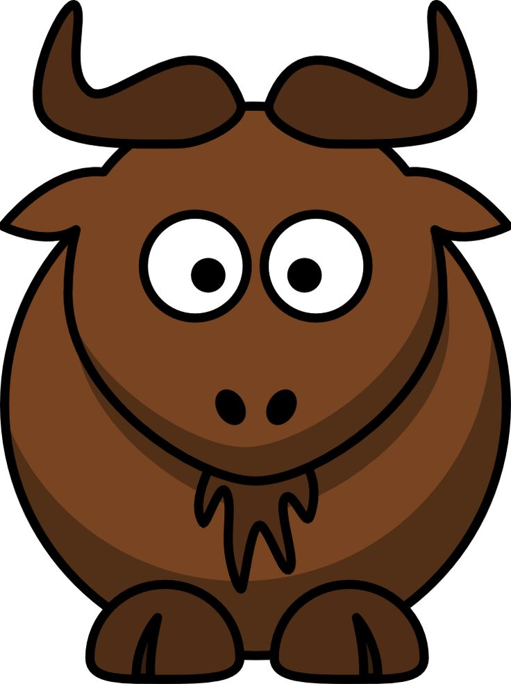 Wildebeest clipart #4, Download drawings