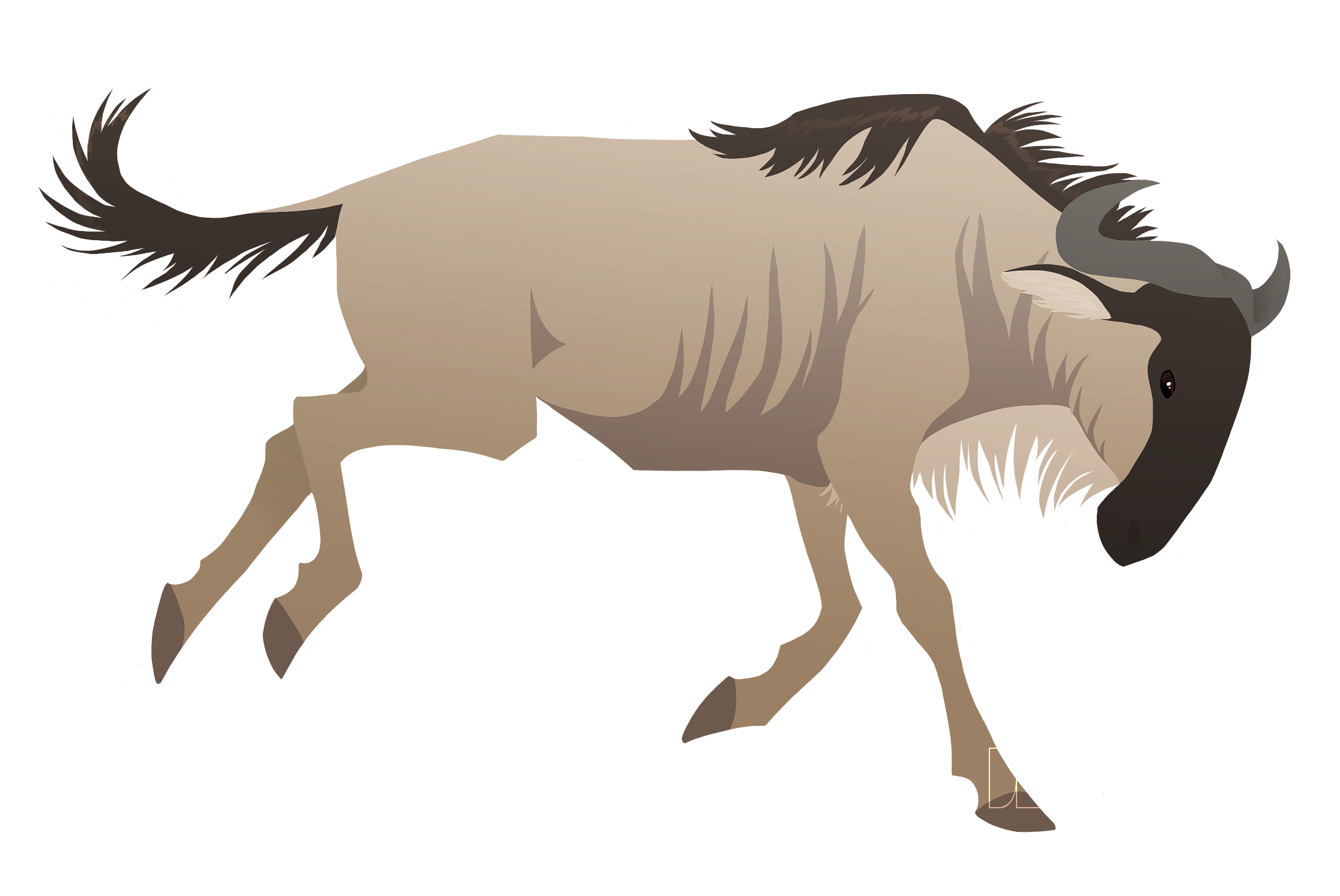 Wildebeest clipart #1, Download drawings