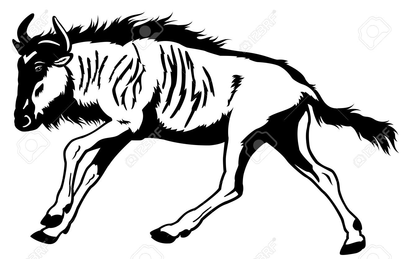 Blue Wildebeest clipart #20, Download drawings