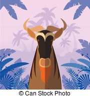 Blue Wildebeest clipart #5, Download drawings