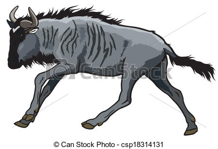 Blue Wildebeest clipart #15, Download drawings