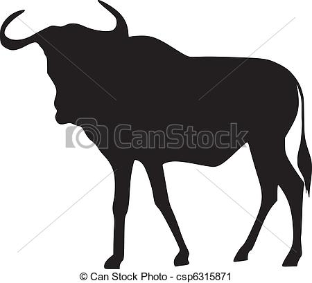 Blue Wildebeest clipart #13, Download drawings